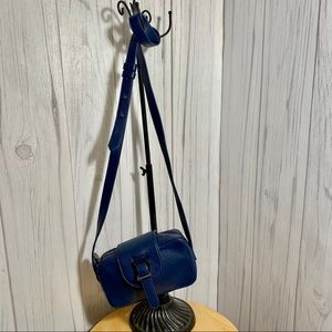 Meli Melo Made in Italy Blue Leather Mini Bag Zip